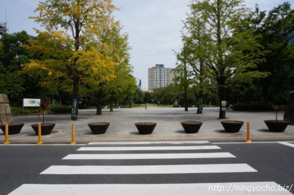 浜町公園入り口横断歩道画像