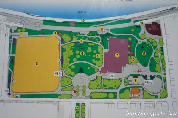 浜町公園地図画像