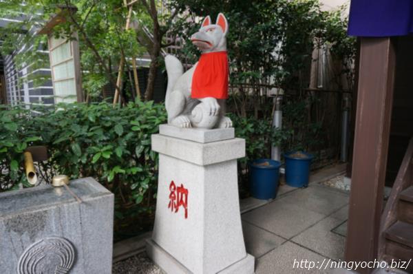 茶の木神社狐様左画像