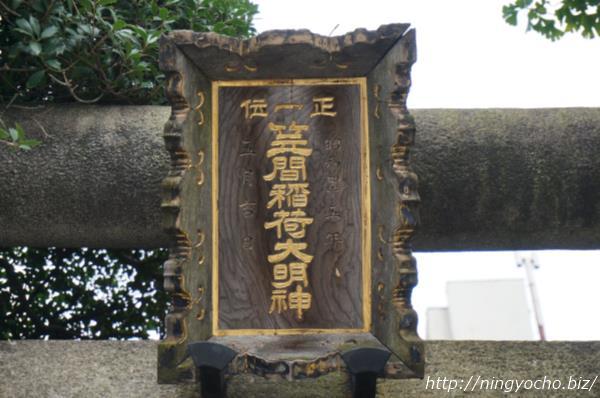 笠間稲荷神社裏口看板画像
