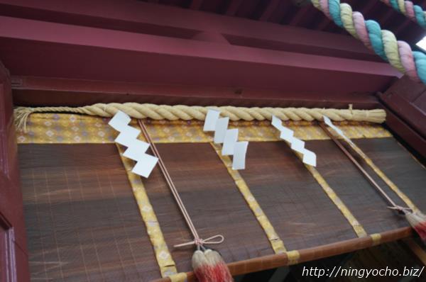 笠間稲荷神社左末右本注連縄画像