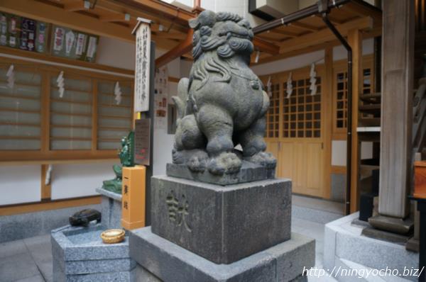 小網神社狛犬左画像