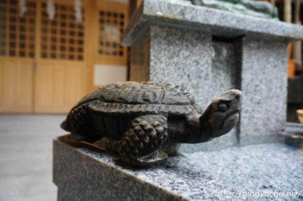 小網神社銭洗いの井の亀画像