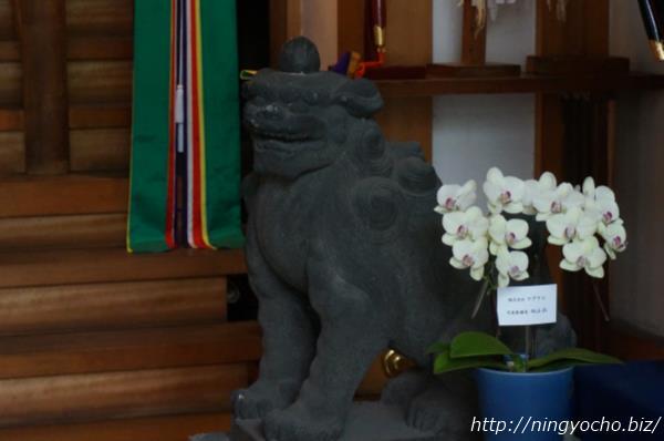 松島神社狛犬右画像