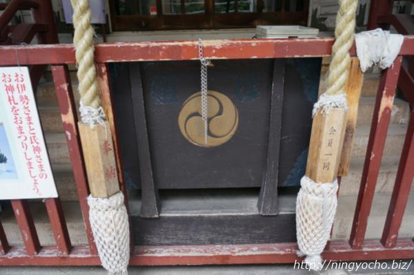 椙森神社境内賽銭箱画像