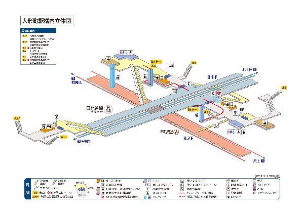 人形町駅構内図画像