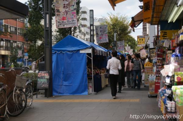 人形市人形町大通り出店テント画像